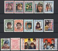 #356 - Erinnofilia - Lotto 14 chiudilettera (Morandi, Beatles, Rolling Stones)