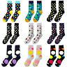 Men Fashion Cotton Crew Sock Unisex Colorful Polka Dots Casual Dress Ankle Socks