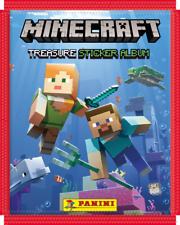 More details for panini minecraft treasure 2021 sticker collection - 10 sealed packs