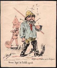 Paul Klenck. Napoléon III. typogravure vers 1870. Caricature Badinguet