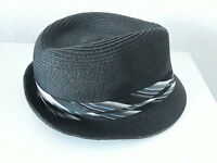 a75c66033e6 Vintage Stone Brand Gangster Mobster Classy Fedora Hat Retro Black S ...