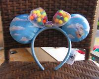 New Disney Parks UP Grape Soda Cap Balloons Minnie Mouse Bow Hat Headband Ears