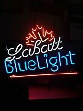 """Used in a bar, Labatt Blue Light Beer Neon Sign 23"""" by 20"""""""