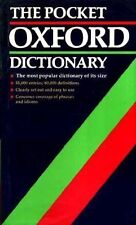 The Pocket Oxford Dictionary of Current English By H.W. Fowler, F.G. Fowler, R.