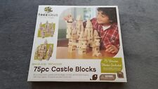 Treehaus Wood Castle Blocks, 75 pieces, Preschooler Learning Toys. New!