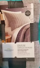 PILLOW SHAM THRESHOLD COTTON BLEND GRAY STRIPE STANDARD TWIN FULL QUEEN TARGET