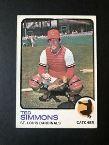 1973 Topps #85 Ted Simmons St. Louis Cardinals Baseball Card