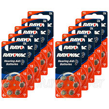 60 x Rayovac Special 13 Size Hearing aid batteries Zinc air 10 Packs EXP:2020