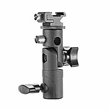 Metal Flash Bracket Light Stand Hot Shoe Mount Umbrella Holder Swivel Hole V9F9