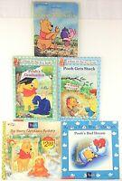 Lot of 5 Walt Disney Winnie-the-Pooh Books, Opposites, Gets Stuck, Graduation