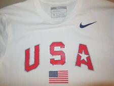 Nike Team Usa T Shirt White Olympics Cotton Polyester Athletic Men's Small S