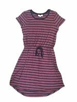 NEW Olive & Oak Women's Striped Short Sleeve Drawstring Dress - Variety