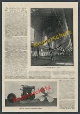 Or. foto relazione Zeppelin costruzione LZ 2 Friedrich porto tecnica dettagli AVIAZIONE 1905