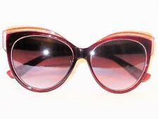 011f87e983 Giselle Designer Two Tone Burgundy  Silver Glitter Cat Eye Fashion  Sunglasses