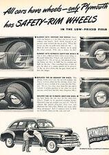 1947 Plymouth Automobile - Original Advertisement Car Print Ad J520