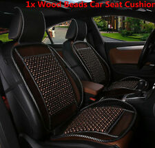 1x Cooling Natural Wooden Beads Car Seat Cushion Mesh Mat Car Seat Chair Cover