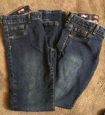 2 Pair Arizona Jean Company Skinny Jean Jeggings Girls Size Reg 14