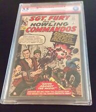 SGT. FURY #1 CBCS 3.5 Verified Signature Stan Lee-Double sign with Dick Ayers
