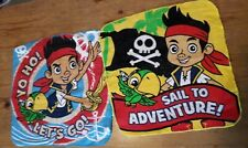 Jake And The Neverland Pirates Disney Glittery Flannels  2 Wash Cloths