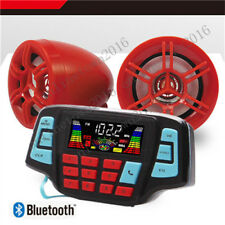 12V Motorcycle Waterproof Audio FM Radio Stereo Speaker For iPhone/iPod/MP3