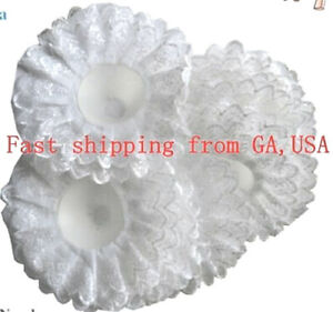 Snow White Bridal Wedding Bouquet Foam Holders Lace Collars 1 pc(GA, USA)