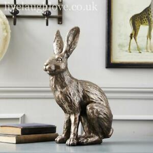 Large 15.5'' Bronze Effect Rabbit Ornament