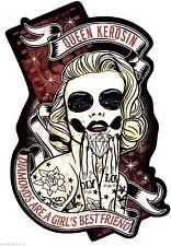 King Kerosene QUEEN KEROSENE Sticker Rockabella Rockabilly Tattoo USA