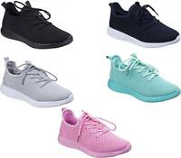 Divaz HEIDI Ladies Womens Lightweight Breathable Mesh Lace-Up Sports Trainers