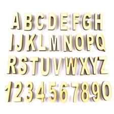 Buchstaben aus Holz zum Basteln - 2,5 oder 10 cm