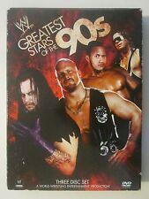 WWE Greatest Stars of the 90s 3-Disc Set Mick Foley Hulk Hogan The Rock DVD