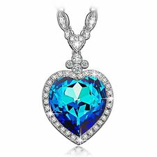 LadyColour Valentines Day Gifts For Women Heart Of The Ocean Titanic Sapphire