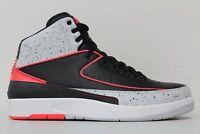 Nike Mens Air Jordan 2 II Retro Black Infrared 23 White 385475-023 Size 11
