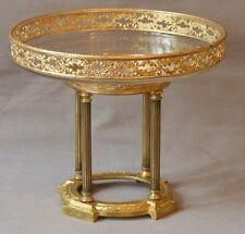 Coupe En Cristal, Cerclée Bronze Doré Louis XVI Sur Pietement Temple, époque XIX