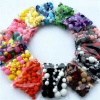 100Pcs Multi-size Colorful Pompoms Pom Pom Craft DIY Sewing Wedding Decoration