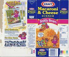 Kraft Macaroni & Cheese Empty Box - Teddy Bear Collector Card - Bearelina - 1992