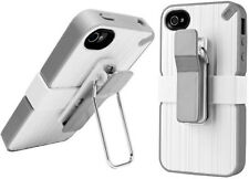 New PureGear The Utilitarian Shell Case w/Clip for iPhone 4/4S White/Gray