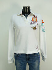 Parajumpers Polo Shirt talla xs/blanco & slim fit (m 4368 W)