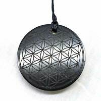 Noble Shungite Flower of Life Polished Mineral~EMF Protection~Elite~Fullerenes
