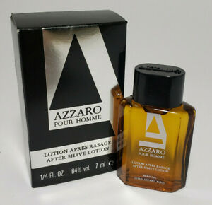 New Azzaro Pour Homme Lotion Apres Rasage After Shave Lotion 7 ml Mini