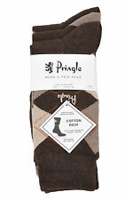 Mens Pringle 3 Pack Socks Waverley L4100 Brown1