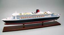 Queen Mary II oceanliner ship display mahogany wood custom model