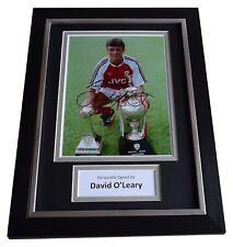 David O'Leary Signed A4 FRAMED Autograph Photo Display Arsenal Football COA