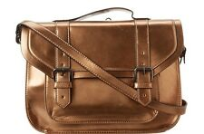$108 BCBGeneration Gold Bronze Crossbody Shoulder Messenger Briefcase Purse Bag