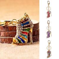 High Heel Shoe Crystal Rhinestone Handbag Pendant Keychain Bag Keyring Key Chain