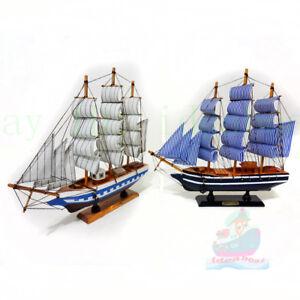 WOOD MODEL (33cm length) Sailing Boat Tall Ship Sailer cruiser Nautical decor