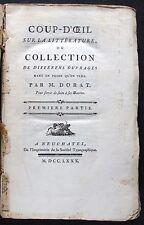 [B0095] Dorat, Coup-d'oeil sur la littérature, édition de Neuchâtel