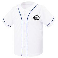 New Cincinnati Reds Button Jersey Baseball Team Raglan T-Shirts Sports Tee 0099