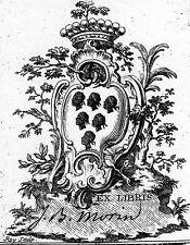 EX-LIBRIS de J. B. MORIN DE TEINTOT. Ile-de-France.