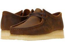 Zapatos de Hombre Clarks Originals Wallabee Con Cordones Gamuza Mocasines 56605 cera de abejas