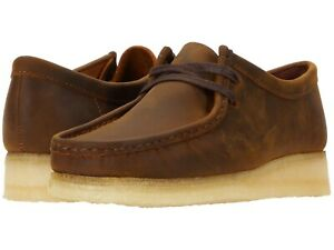 Men's Shoes Clarks Originals WALLABEE Lace Up Suede Moccasins 56605 BEESWAX